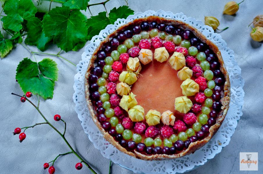 Recept na citrónovú tortu s agarom a jesenným ovocím